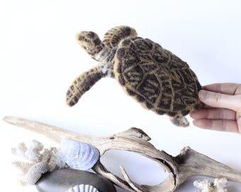 Needle felted Hawksbill Sea Turtle