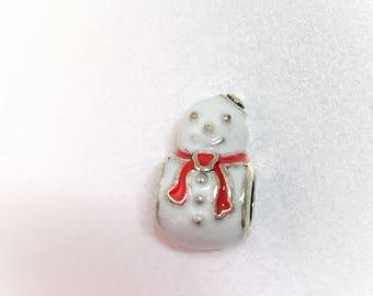 Cute Snowman Charm European Charm European Bracelet Bead Large Hole Bead Make Your Own Jewelry Making LynnsGemSupplies
