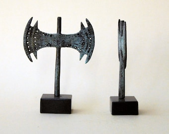 Bronze Sculpture Double Axe, Greek Minoan, Metal Art Sculpture, Museum Quality Art, Bronze Greek Art, Ancient Greece, Greek Mythology