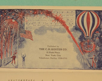 """vintage fireworks booklet, """"Annals of the Koster Family"""" (fireworks merchants)"""