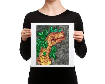 Dragon of the Oak Canvas Print