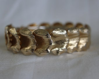 Shell or Leaf Hinge Bracelet
