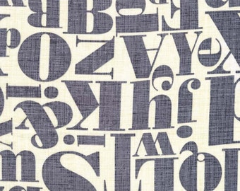 Letterpress in Gray from Just My Type by Patty Young for  Michael Miller Fabrics