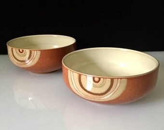Kitchen Dining Sale 2 Denby Chili Fire Cereal Bowls Modernist Room Decor