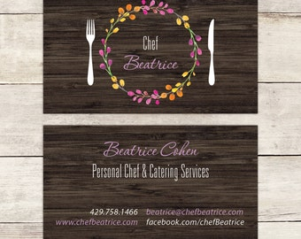 Chef business card etsy personal chef business card nutritionist business card nutrition advisor business card catering business colourmoves