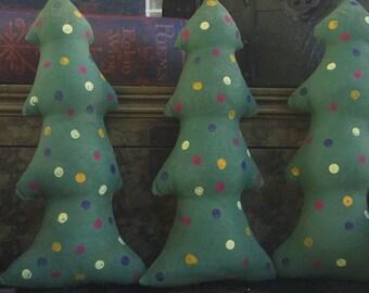 Primitive Christmas Trees Shelf Sitters Bowl Fillers
