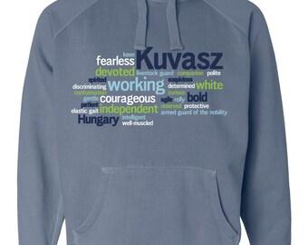 Kuvasz Garment Dyed Hoodie Sweatshirt