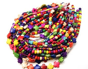 BULK Howlite Bead Mix - 5 strands - #TURQ248