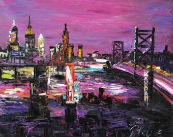 Ben Bridge in Sunset, Philadelphia-Pen King-A1411
