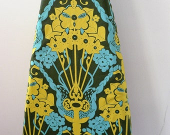 Ironing Board Cover - retro mustard yellow and seafoam blue