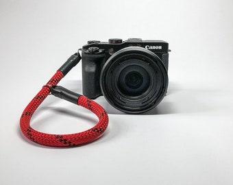 Camera wrist strap, camera strap, strap, wrist strap, hand strap rope, DSLM, DSLR hand strap red/Black