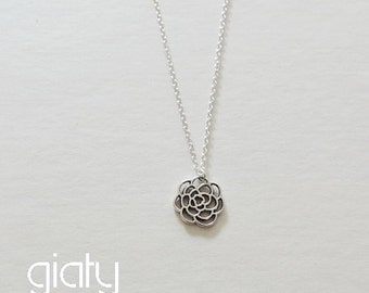 Rose Necklace, Small Necklace, Everyday Necklace, Simple Necklace, Bff Necklace, Dainty Necklace, Mother's Day Gift