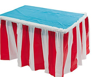 Carnival/ Circus Table Skirt