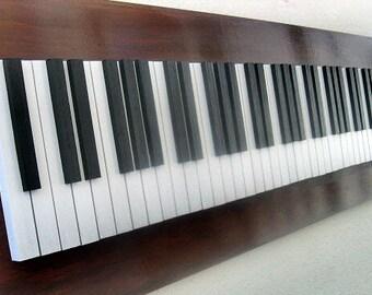 Piano Art, Wood Wall Art, Piano Keys, Music Art