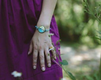 Mantra Bracelet Explore Bracelet Boho Gift for Her Inspirational