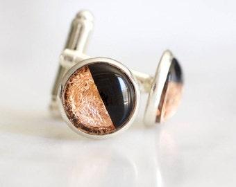 Half Half Copper Cufflinks #Makeforgood