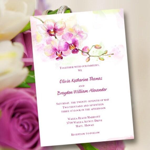 Printable Wedding Invitation Template Orchid