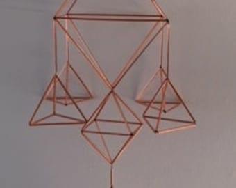 Himmeli Inspired Copper mobile - Kokeilu #16.: Koti (Home)