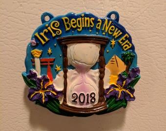 Mardi Gras 2018 Iris Signature Throw Magnet - Krewe of Iris