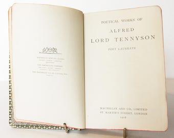 Tennysons Poetical Works 1908 Poems Gift Vintage Book Hardback old book antique poetry book