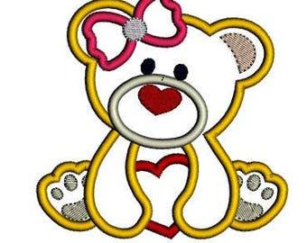 Valentine Girl Bear Shirt