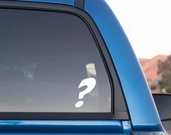 Question Mark Sticker for Cars and Trucks