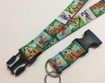 Inspired by Goofy Keychain Lanyard with Removable Key Chain End