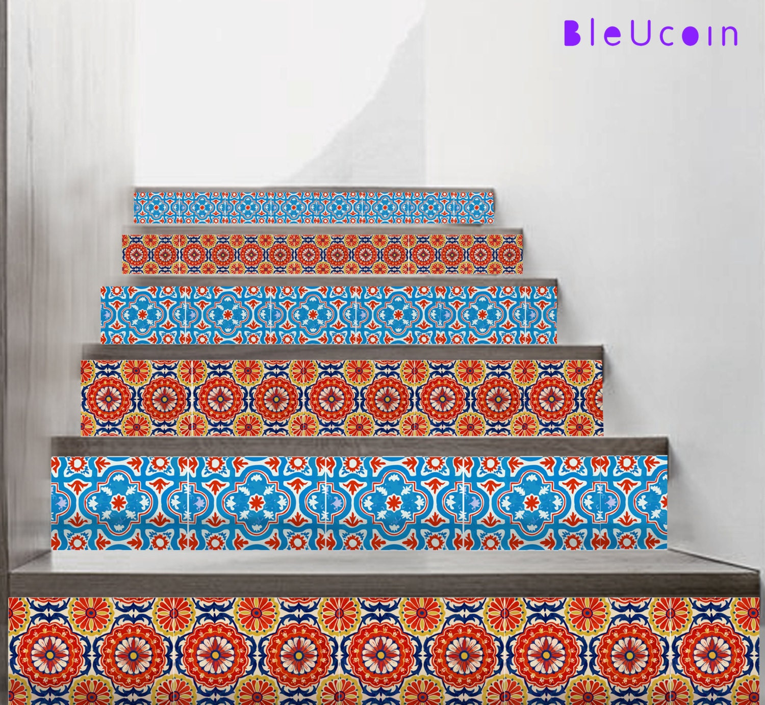 Mexican Stair Riser Vinyl Strips Removable Sticker Peel &