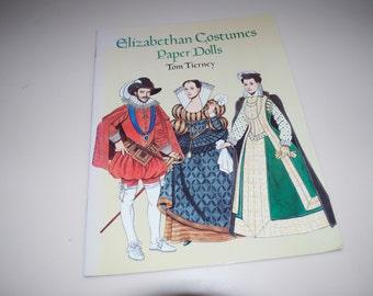 """Tom Tierney Paper Dolls """"Elizabethan Costumes"""" 1996 Complete Uncut"""