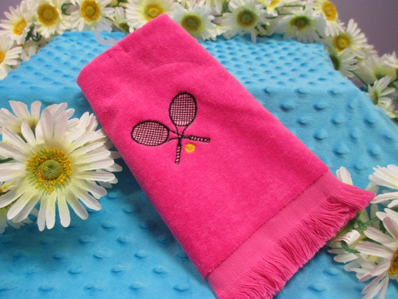 Personalized Tennis Fingertip Towel-FREE SHIPPING