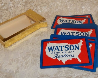 Vintage Deck of Playing Cards by Watson Corp. of Jax. Realtors for Advertisment and promotional