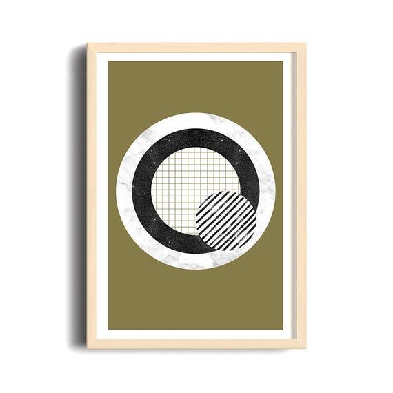 ANTI-TARGET // poster, Abstract art, 12x18, minimalist art print, geometric print, mid century, Scandinavian style, target, green