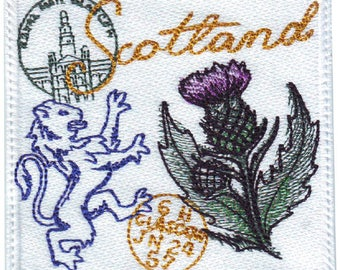 Scotland Stamp Embroidered Patch