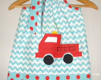 dress Fire truck dress chevron fire truck dress fire fighter  dress 3,6,9,12,18 month 2t,3t
