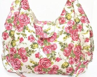 Floral Purse - Floral Hobo Bag - Everyday Bag - Cross Body Bag - Sling Bag - Cross Body Hobo Bag - Crossbody Bag - Cross Body Purse