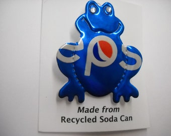 Magnetic Pepsi Frog Recycled Can