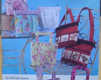 Simplicity 2779 Small tote bag sewing pattern by Faith Van Zanten UNCUT