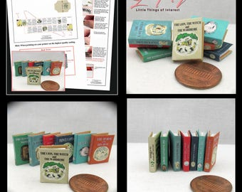 Kit 7 The CHRONICLES Of NARNIA Dollhouse Miniature Book Kit 1:12 Full Set Miniature Books Kit 7 Books DIY The Lion the Witch The Wardrobe