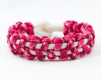Pink Bracelet, Valentine Bracelet, Womens Bracelet, Girl Bracelet, Cute Bracelet, Fashion Bracelet, Survival Bracelet, Paracord Bracelet