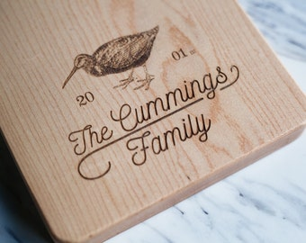 Family Name Engraved - Custom Engraving - Laser Engraving for Cutting Board*, Personalized* *(Cutting Board Not Included) - FREE CARE KIT