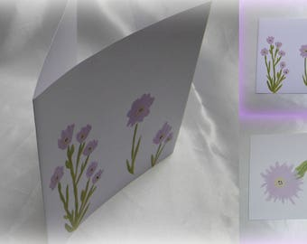 Flowers * a beautiful hand painted card