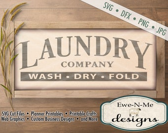 Laundry Room SVG - laundry company sign svg - Laundry cut file - laundry room stencil - Commercial Use svg cut file -  svg, dxf, png, jpg