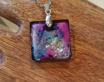 Resin Pendant - Abstract