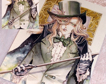 Card mother of pearl Manga Gentlemen
