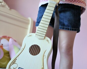 Personalized Kids Toy Guitar, Gifts for Kids, Music Instrument, Elastic Strap, Birthday Present, wooden toy, Kids Birthday gifts