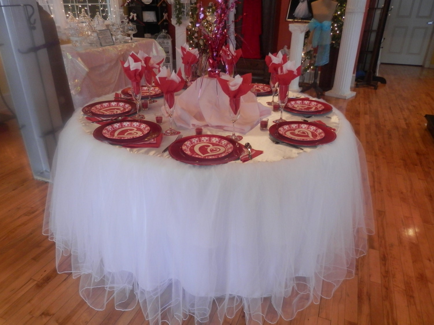 Head Table I Like The Cake Behind The Head Table So You: Custom Made Wedding Cake Table Tablecloth White Tulle 60 Inch