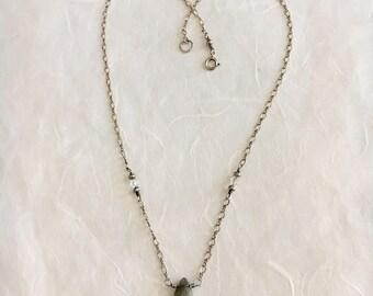 Rainbow Moonstone Silver Delicate 16in Necklace Labradorite SALE