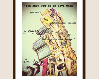 "Dr. Seuss Print ""You know you're in love when..."" FREE shipping in US"