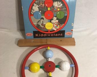 Old wood + original Vintage box KIDDIVOLANT baby toy