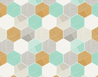 Blue Honeycomb from Blend Fabric's Sweet Dreams Collection by Maude Asbury